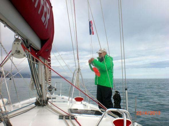 Franskt blir italienskt under första seglingsdagen