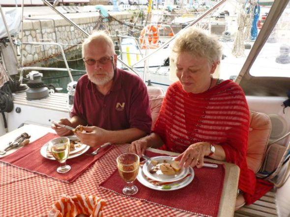 Valborgsmässoafton i Livorno med foie gras som förrätt
