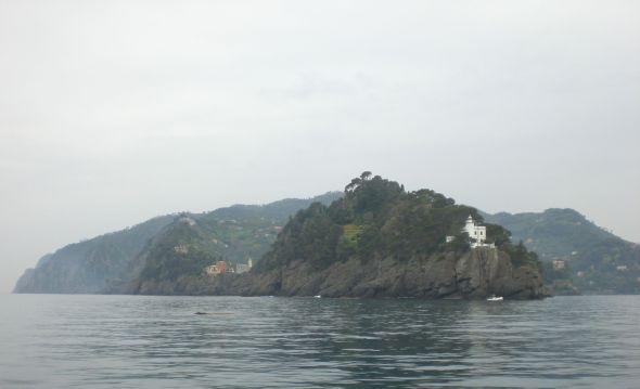 Vi passerar Portofino på väg från Genua till Chiavari