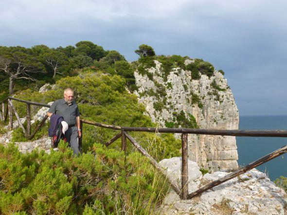 Svante på vandring på höjderna i Gaeta