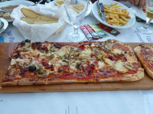 Pizza som metervara
