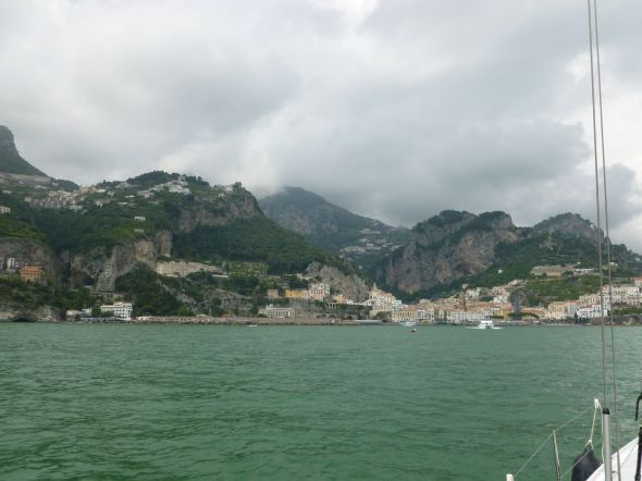 Vi närmar oss Amalfi