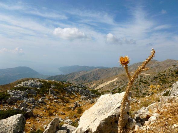 På toppen av Lefkas