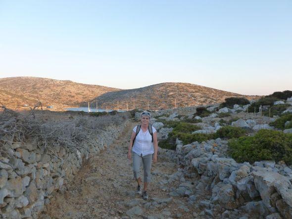 På väg till sen lilla tavernan på Levitha