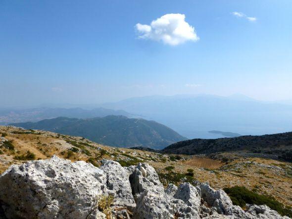 Utsikt från toppen av Lefkas