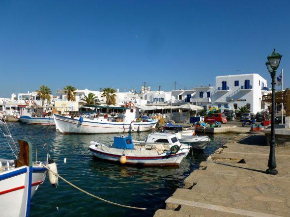 Fiskehamnen i Naousa