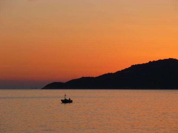 Solnedgång i Kas