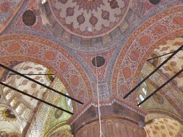 Blå moskén interiör