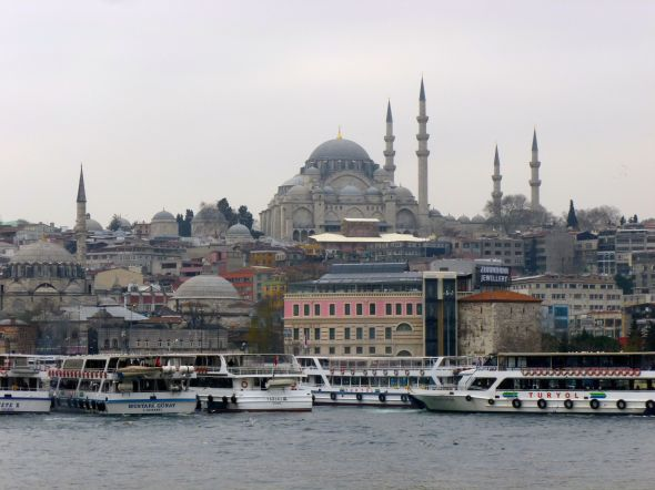 Hagia Sophia looking south from the Golden Horn