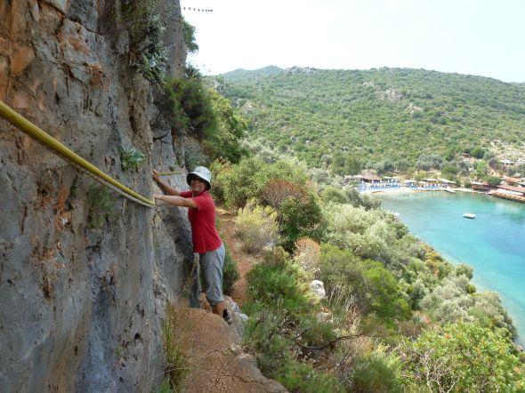 Nina klättrar