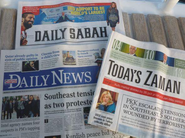 Turkiska dagstidningar på engelska