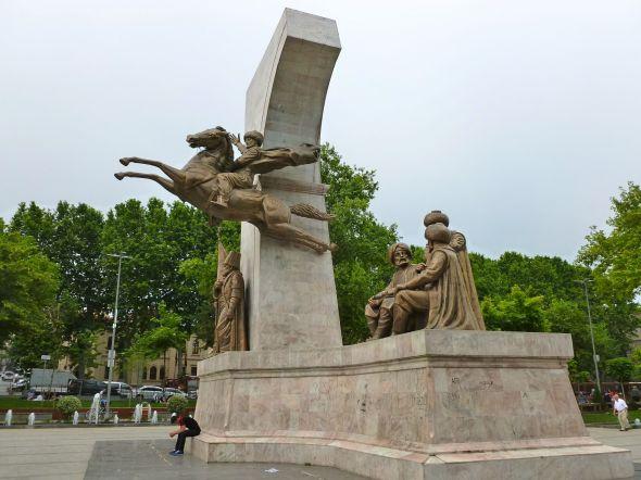 Monumentet över Mehmet II, erövraren av Konstantinopel