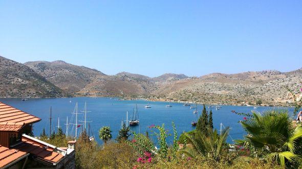 Båtar på redden utanför Bozburun