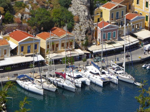 Ayfer in Port Symi