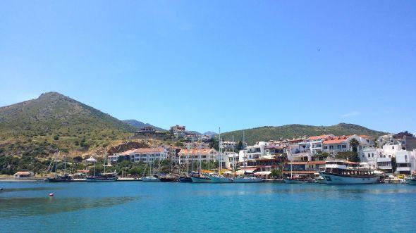Datca, där vi klarerade ut från Turkiet