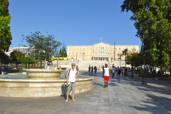 Svante på ett rofyllt Syntagmatorg