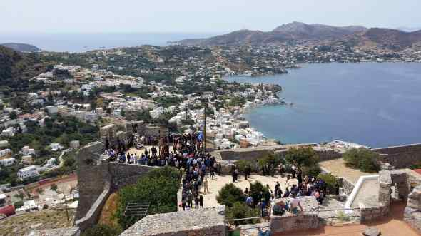 Easter celebration in the ancient castle of Leros